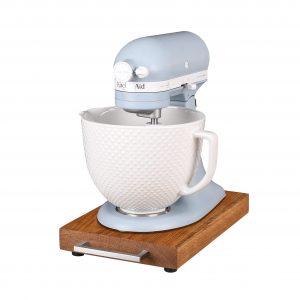 KitchenAid Gleitbrett - Rollbrett Griff Edelstahl eckig 4cm