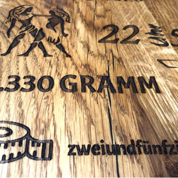 Geburtstafel Holzgravur