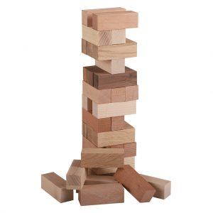 Jenga_Holzturm aus Massivholz