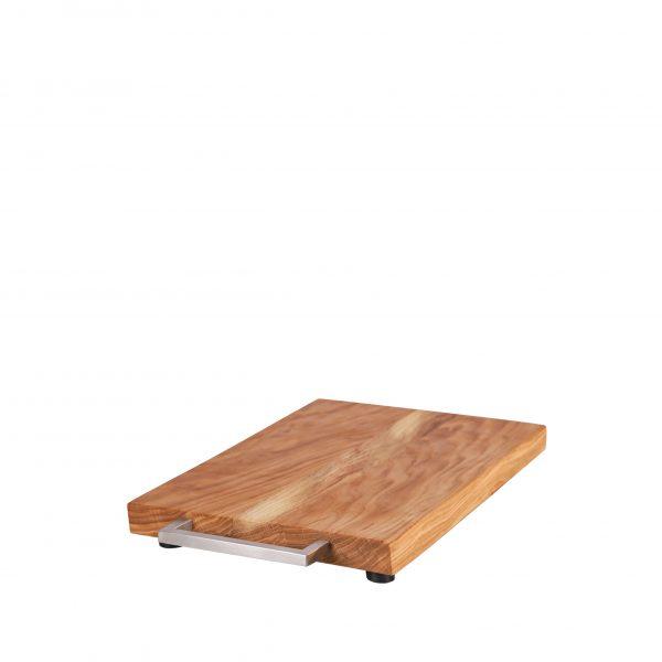KitchenAid Gleitbrett - Rollbrett Griff Edelstahl eckig 2,5cm von Holz-Liebling