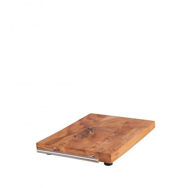 KitchenAid Gleitbrett - Rollbrett Griff Edelstahl rund 2,5cm von Holz-Liebling