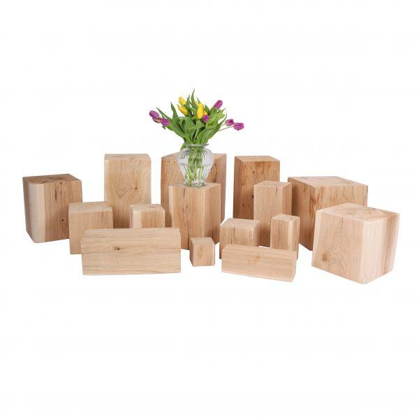 Holzblöcke - Holzklötze mit Vase