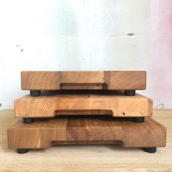 Gleitbretter aus Holz mit Griffmulde