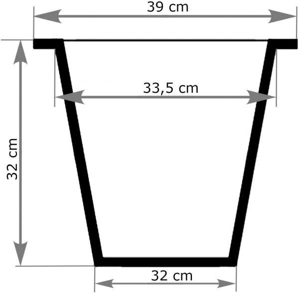 Innendurchmesser 33,5cm