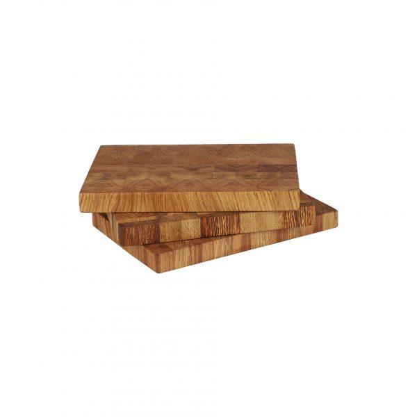 Brotzeitbrett Stirnholz drei Stück