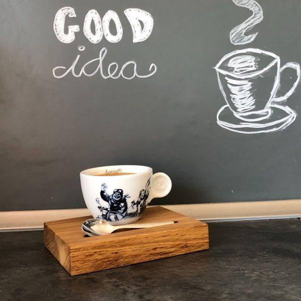 Serviertablett Espresso Eichenholz