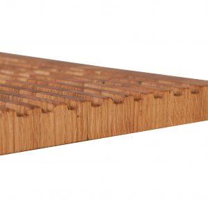 Brotschneidebrett Stirnholz Detailfoto