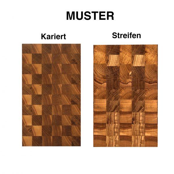 Birke Eiche Stirnholz Muster