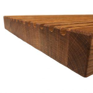 Brotkrümmel Rillenbrett aus Holz