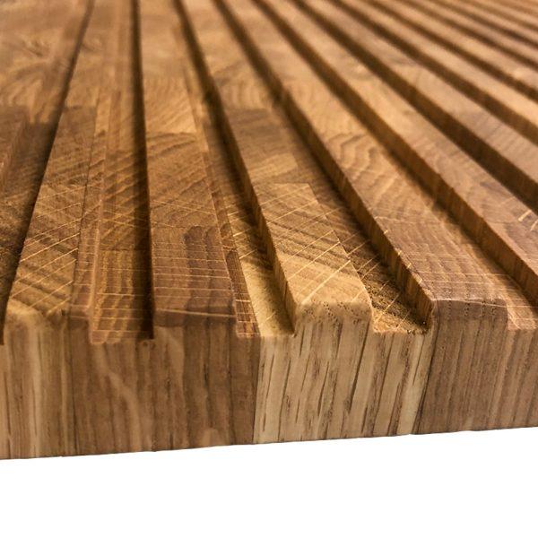 Eichenholz Hirnholz Brotschneidebrett