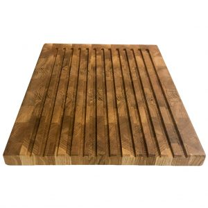 Eichenholz Kopfholz Brotschneidebrett