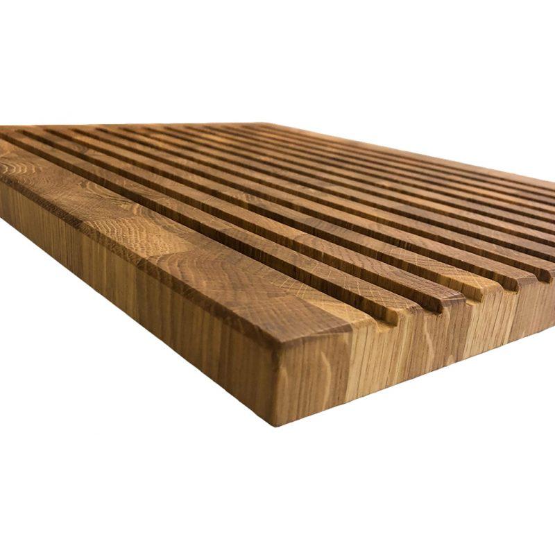 Eichenholz Stirnholz Brotschneidebrett