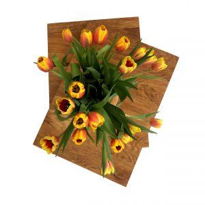 zweigeteilite Kochfeldabdeckung mit Blumen von oben.jpg
