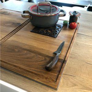 zweiteilige Kochfeldabeckung mit Topfuntersetzer