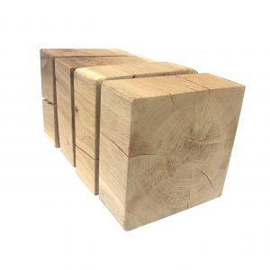 4 Stk. Unterlegklötze - Wohnwagenstützplatte aus Eichenholz