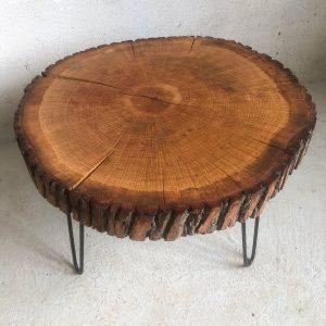 Eichenholz Baumscheiben Tisch