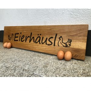 eichenholzschild-deko