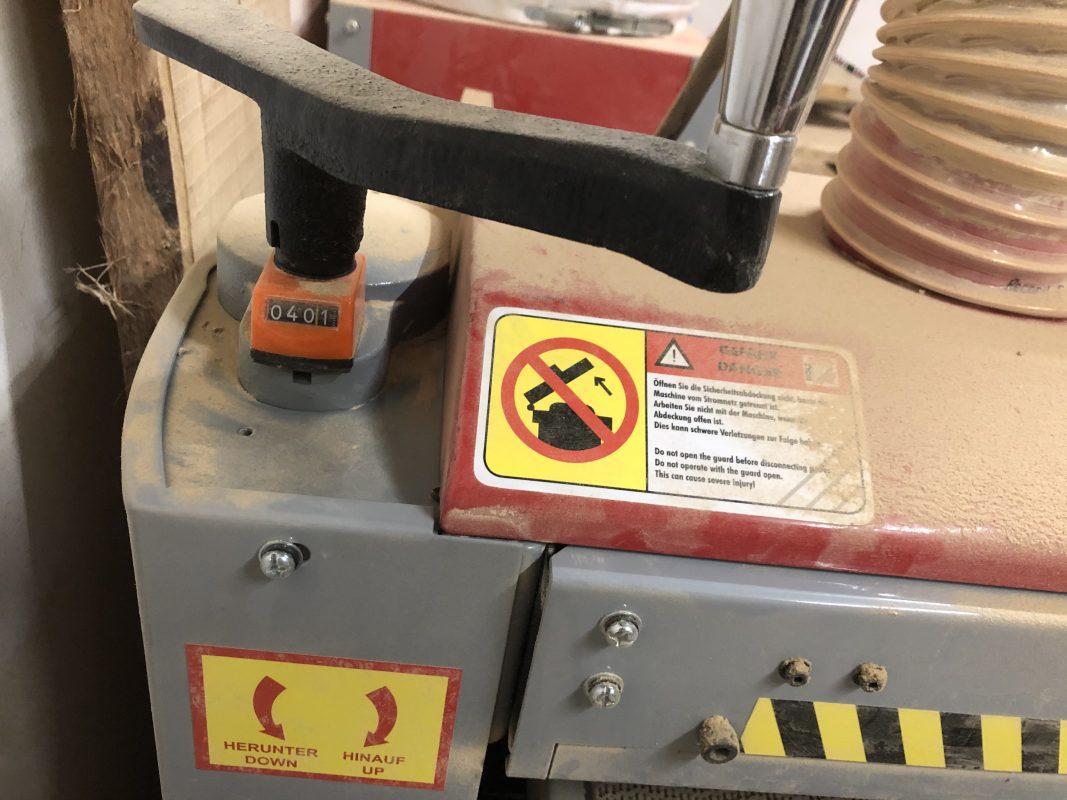 Kurbel Höhenverstellung Schleifmaschine