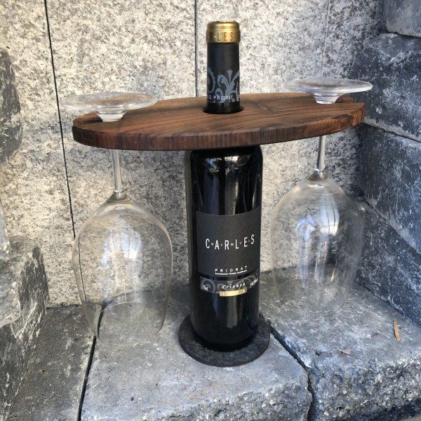 weinglashalter-walnuss-rotwein