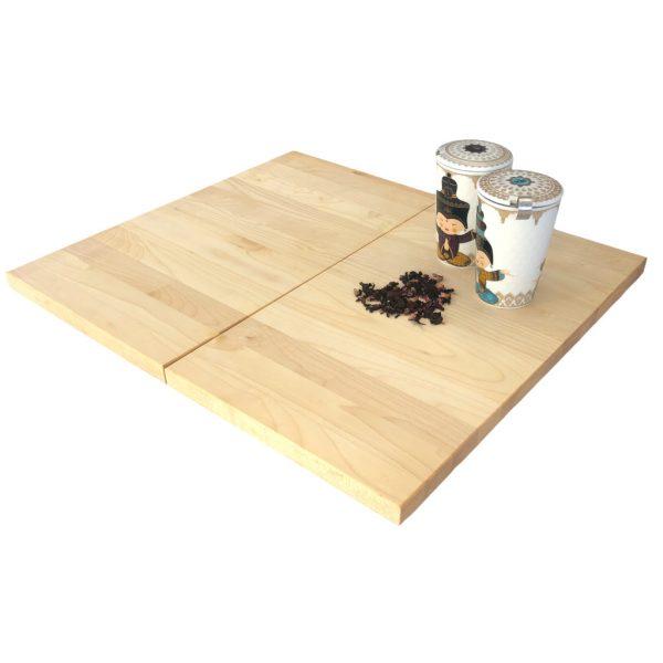 zweiteilige Kochfeldabdeckung aus Ahornholz