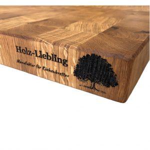 Stirnholz Kochfeldabdeckung Holzgravur