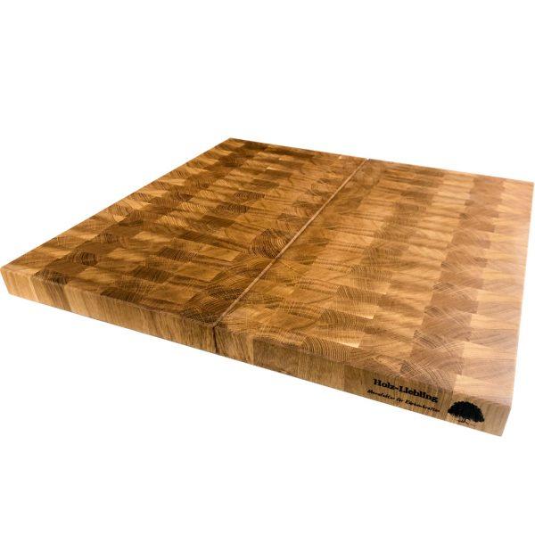 Stirnholz Kochfeldabdeckung zweiteilig Eichenholz
