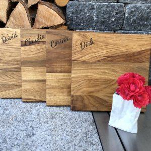 Vespa Frühstücksbrett Holzgravur Name