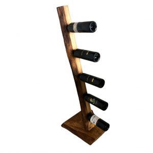 Weinflaschenständer Eichenholz Rustikal