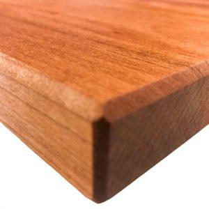 Kirsche Holz gebrochene Kante