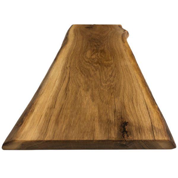 Servierbrett aus Eichenholz mit Baumkante