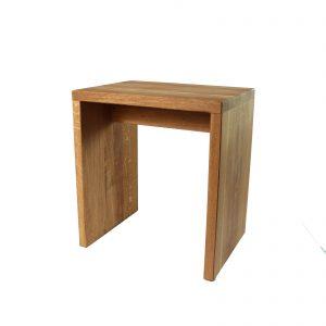 Holzhocker aus Eichenholz - Holzschemel